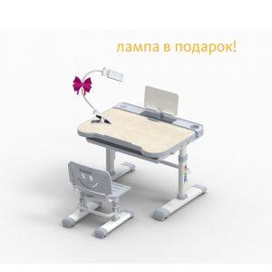 Детская парта-трансформер и регулируемый стул Bellissima Grey