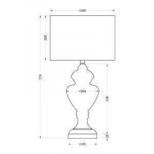 22-87591 Лампа настольная плафон темно-серый Д40, В81